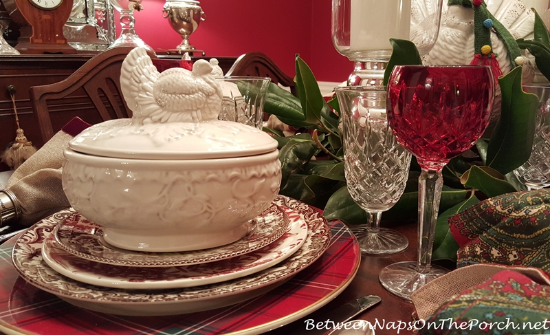 White Turkey Tureens for Thanksgiving Table