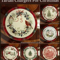 Tartan Chargers for the Holiday Table