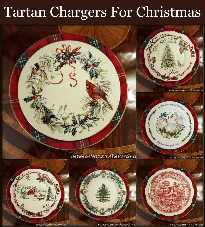Williams-Sonoma Tartan Plaid Chargers for Christmas