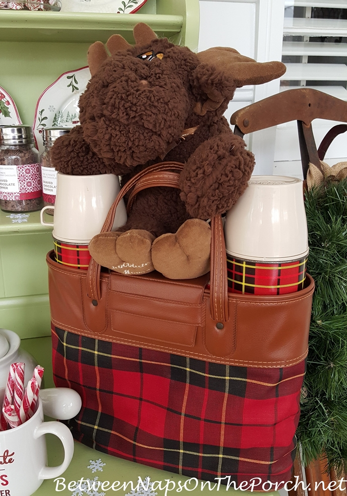 Chocolate Moose & Plaid Thermos for Cocoa Bar