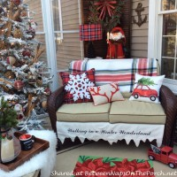 Decorate the Porch in Tartan for Christmas