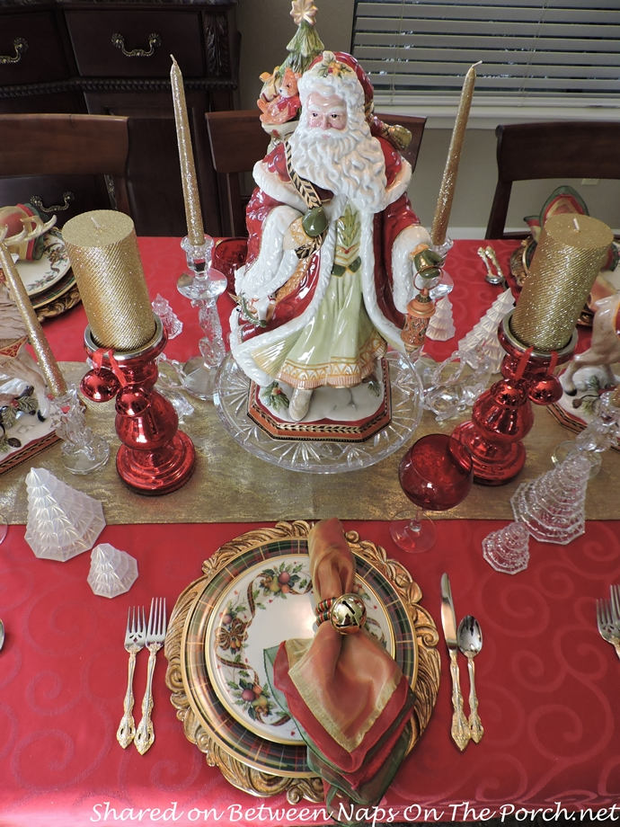 Christmas table setting lenox holiday tartan beautiful