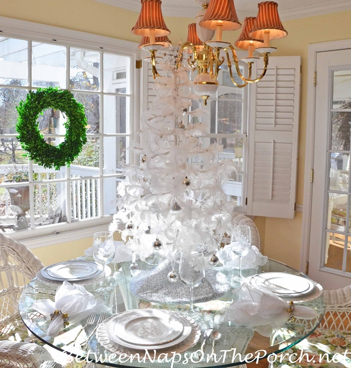 Christmas Tablescape All in White