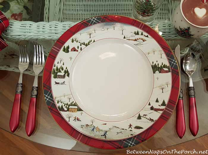 Christmas Valley Plate by David Carter Brown