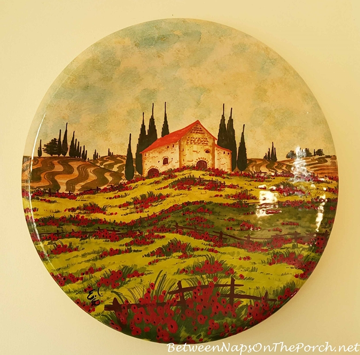 Decorative Platter from Pienza Italy_wm