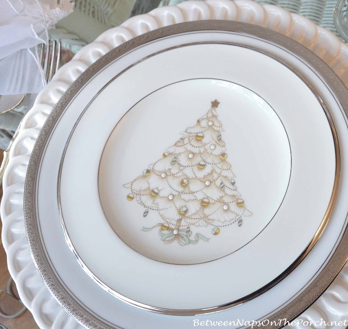 Elegant Christmas Tree Plates Dinnerware by Noritake_wm