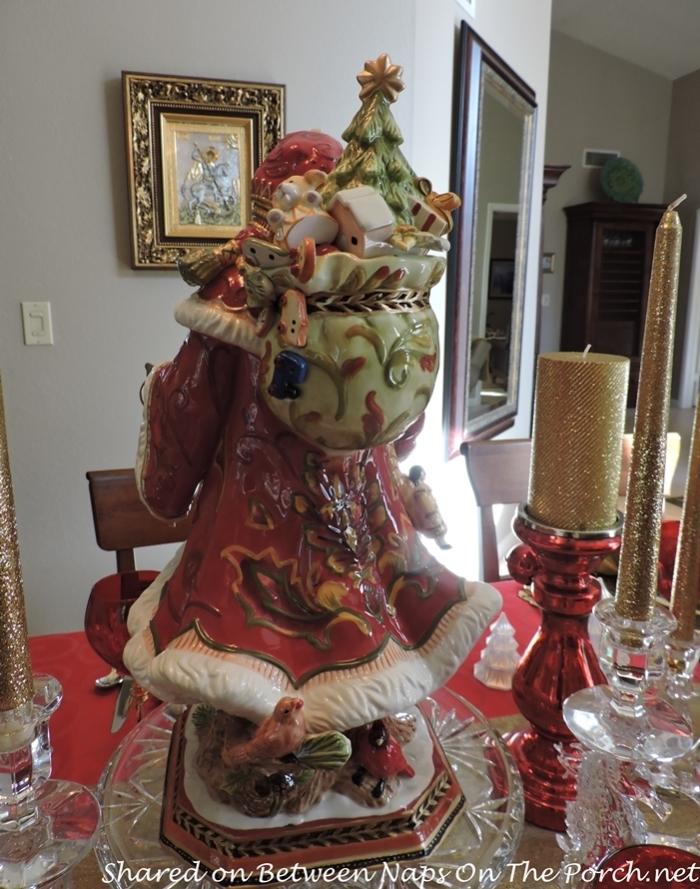 Fitz and Floyd Damask Santa for Christmas Table Setting