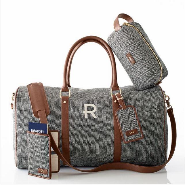 Herringbone Travel Weekender Bag