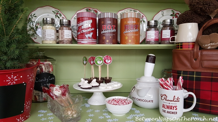 Hot Chocolate Station With Toppings