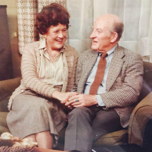 Julia Child with husband, Paul