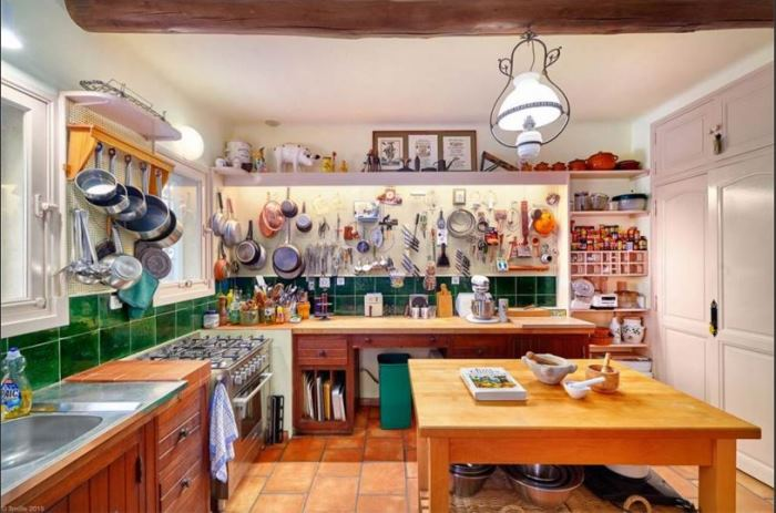 Julia Child's kitchen in her home in France