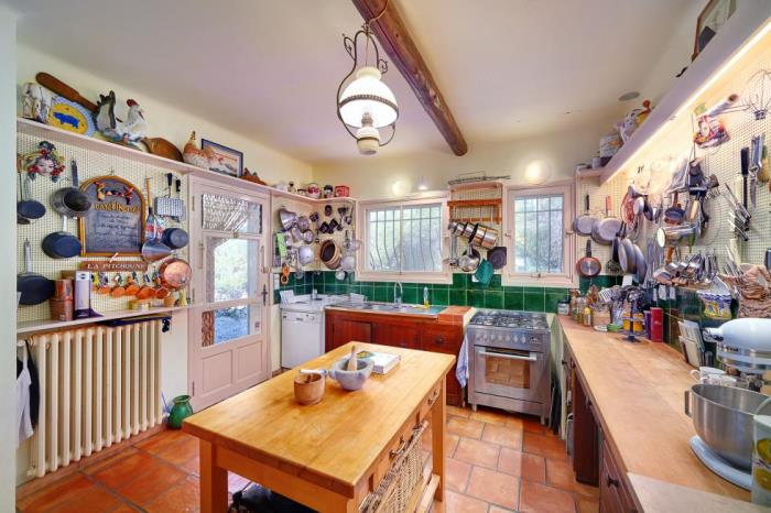 Kitchen in Julia Child's home in France