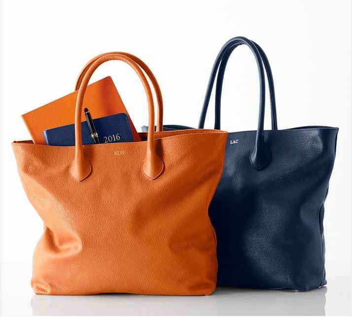 Leather Monogrammed Boardroom Bag
