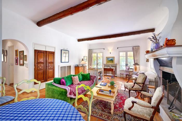 Living Room of Julia Child's French Cottage Home
