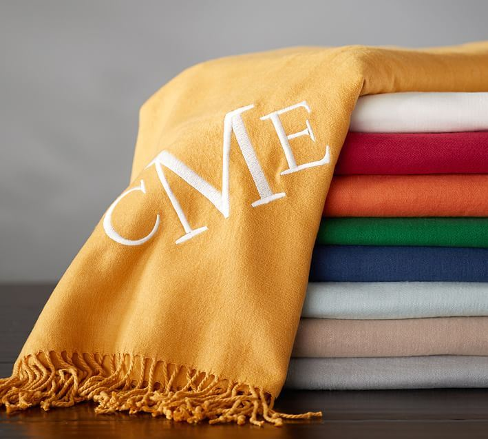 Monogrammed Throw