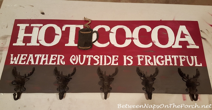 Moose Hooks for Rustic Hot Cocoa Sign