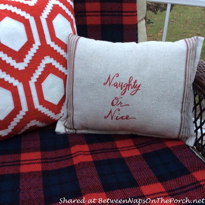 Naughty or Nice Pillow