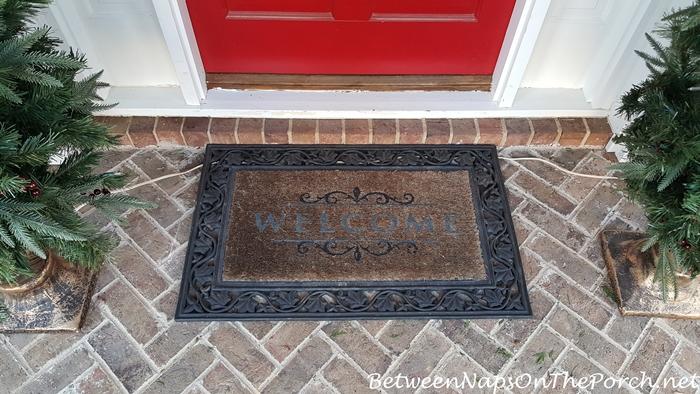 Old Door Mat Before Upgrading to Front Gate Door Mat