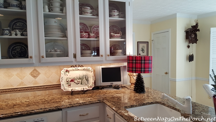 Plaid Pine Cone Lamp from HomeGoods