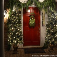 A Red Christmas Door