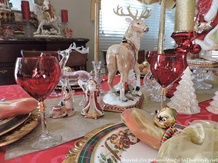 Red Stemware for a Christmas Table
