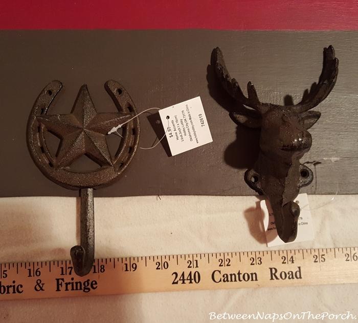 Rustic Moose and Horseshoe Star Hooks
