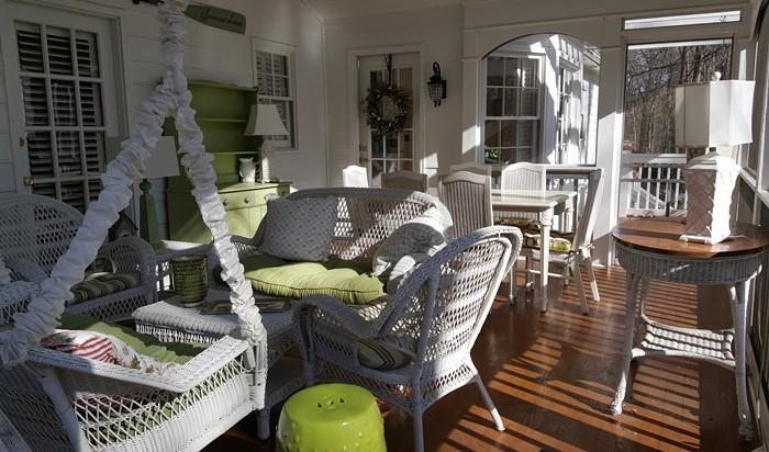 Screened Porch in Winter