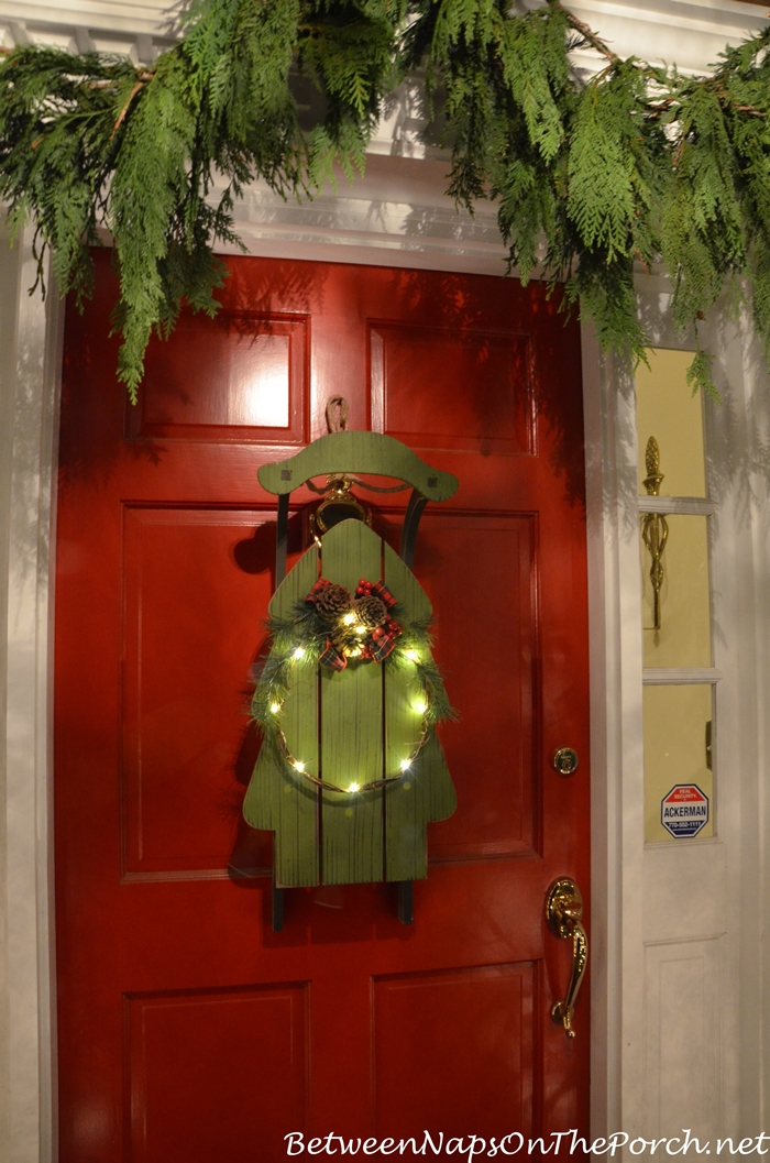 Sled Door Decoration for Christmas