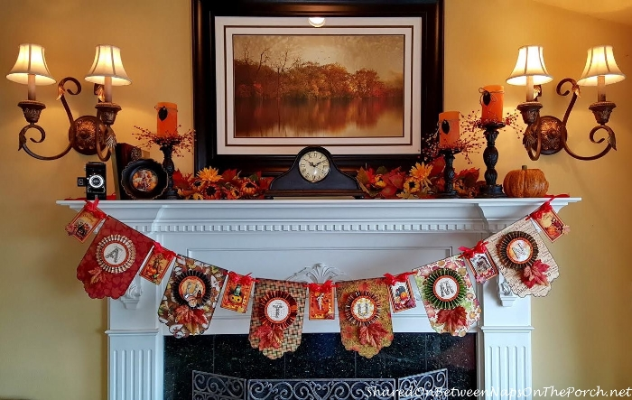 Thanksgiving Decorations and Banner for Fireplace Mantel_wm