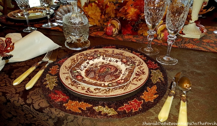 Thanksgiving Table Setting With Johnson Bros His Majesty & Williams Sonoma Plymouth 03