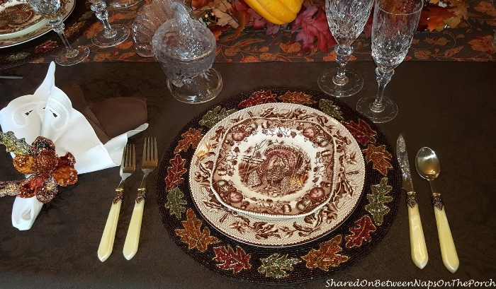 Thanksgiving Table Setting With Johnson Bros His Majesty & Williams Sonoma Plymouth 10