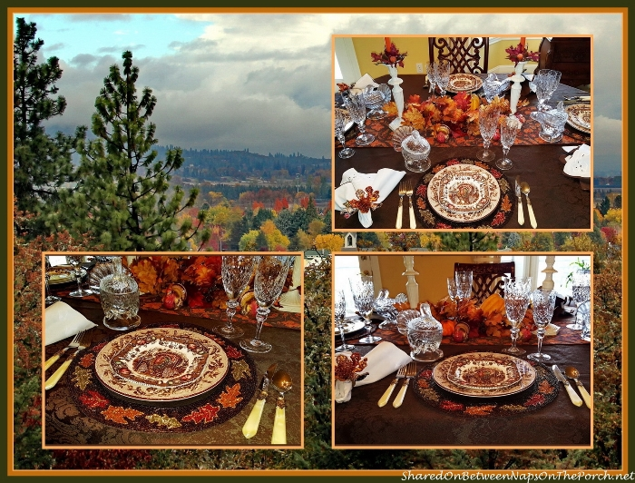 Thanksgiving Table Setting With Johnson Brothers His Majesty & Williams Sonoma Plymouth China