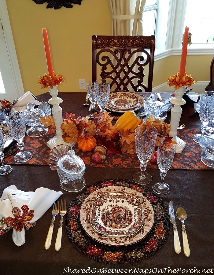 Thanksgiving Table With Johnson Brothers His Majesty & Williams Sonoma Plymouth