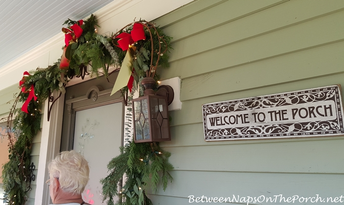 Christmas Garland Around Front Door