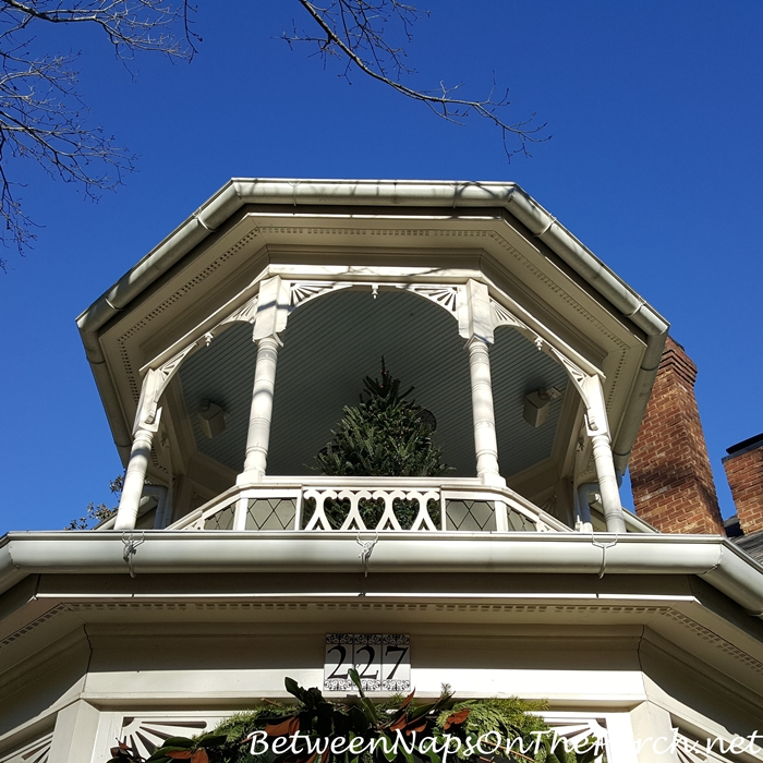 Christmas Tree on Porch Style Cupola