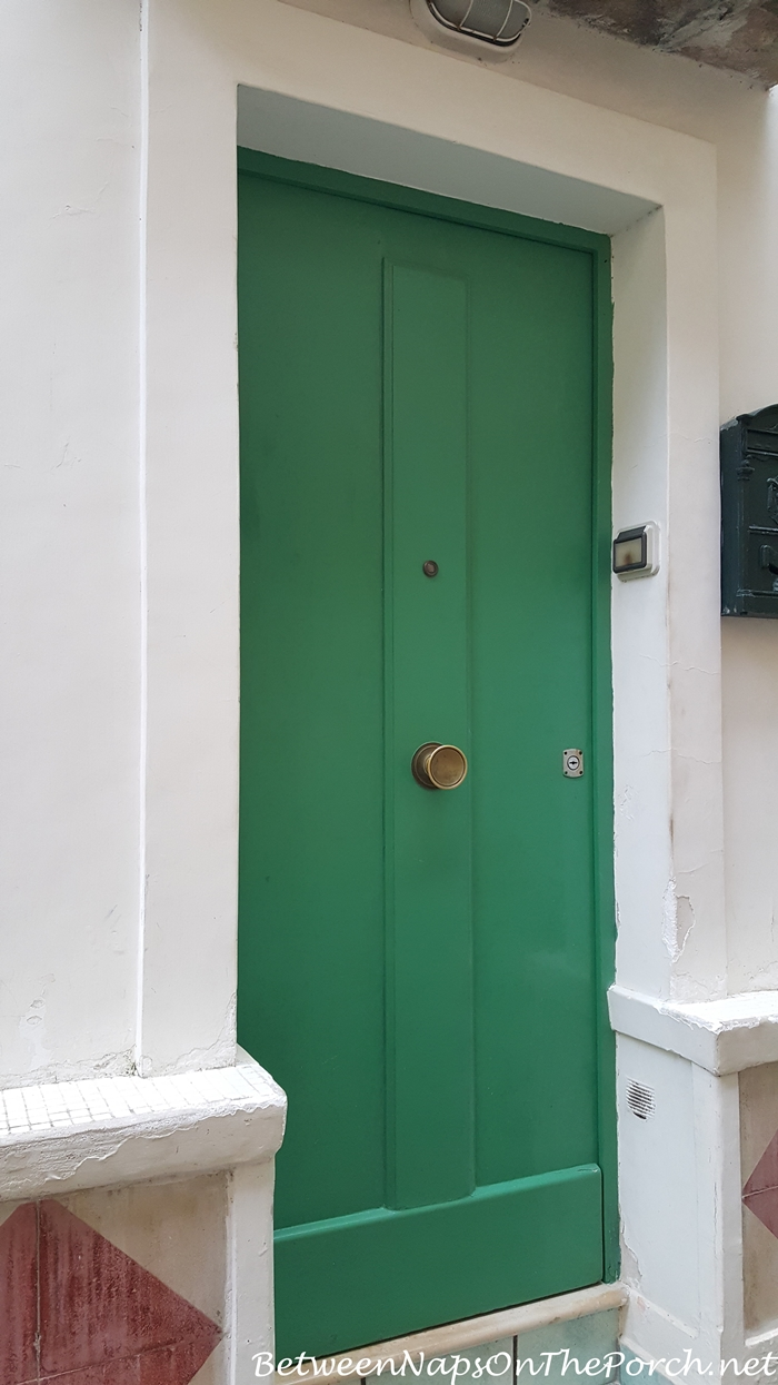 Colorful Green Door of Positano, Italy