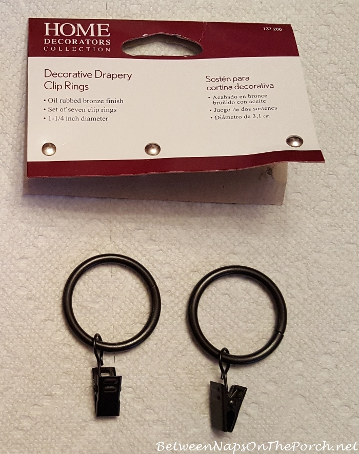 Drapery Clip Rings without Hook