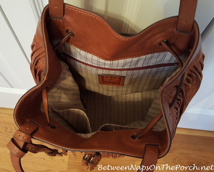 Frye Heidi Fringe Bag Interior
