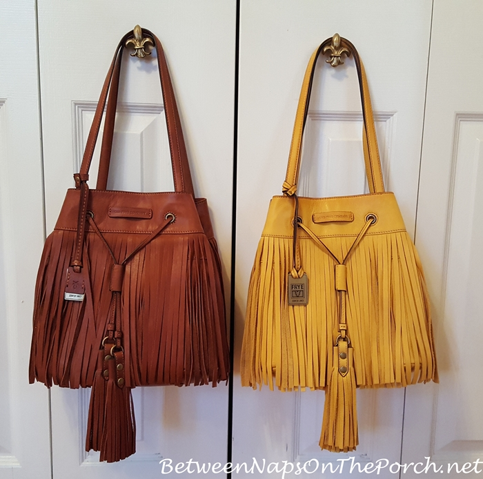 Frye Heidi Fringe Bag, Whiskey & Lemon Yellow
