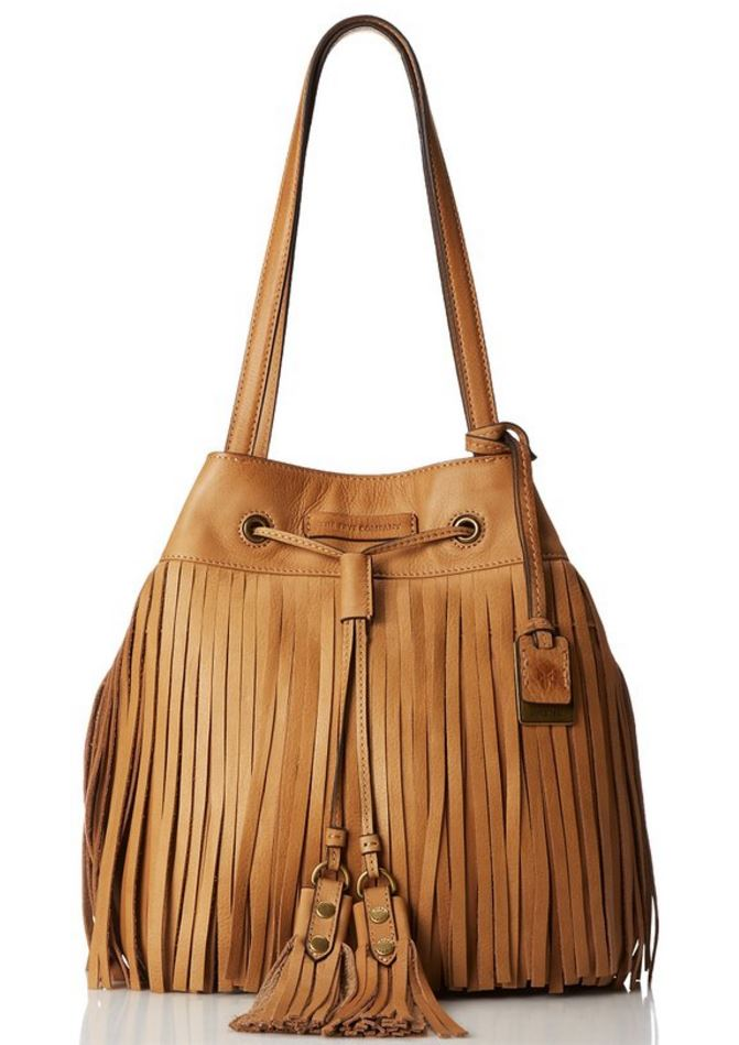 Frye Heidi Fringe Bag in Beige