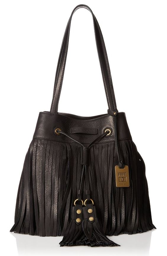 Frye Heidi Fringe Bag in Black