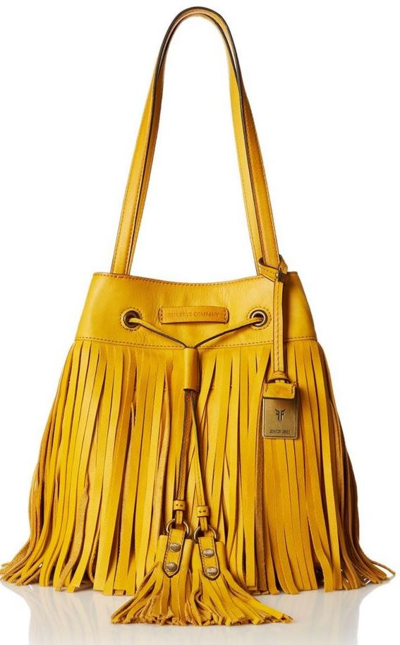Frye Heidi Fringe Bag in Lemon