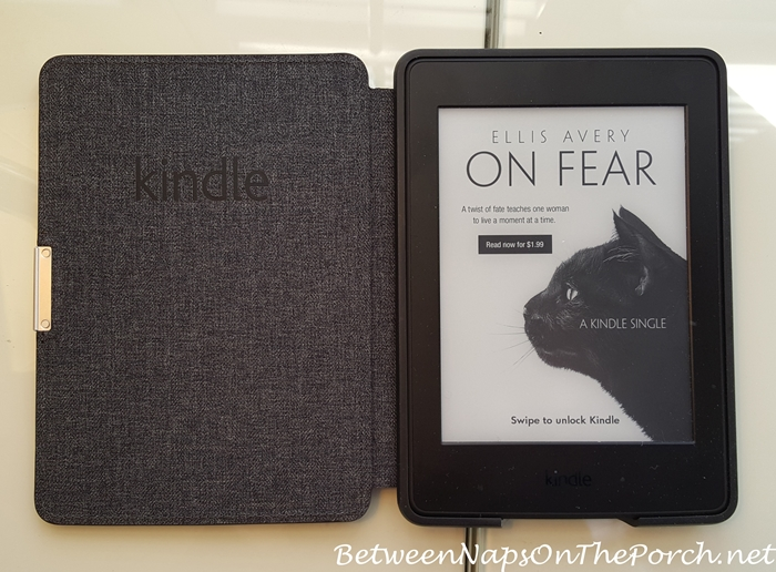 Leather Kindle Cover with Auto Shut-Off When Closed