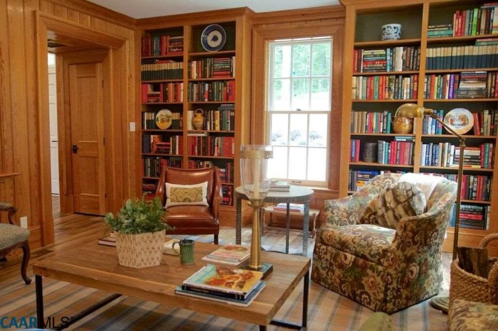 Library, The Fox Hill, Southern Living Plan