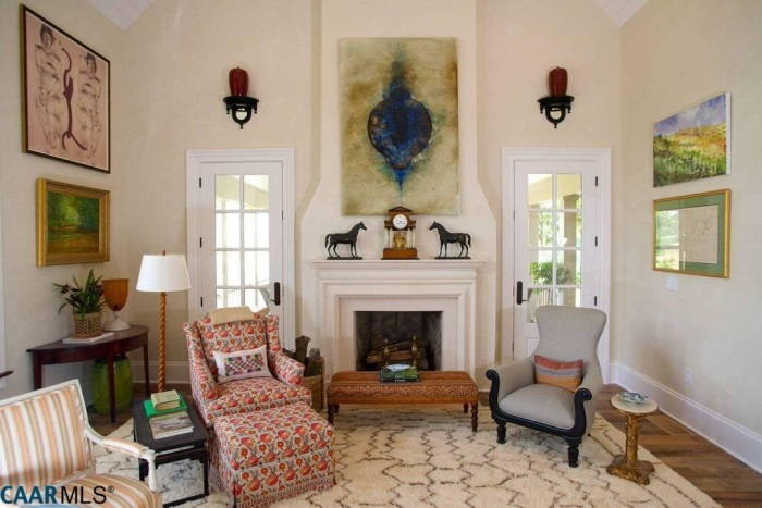 Living Room, The Fox Hill, Southern Living Plan