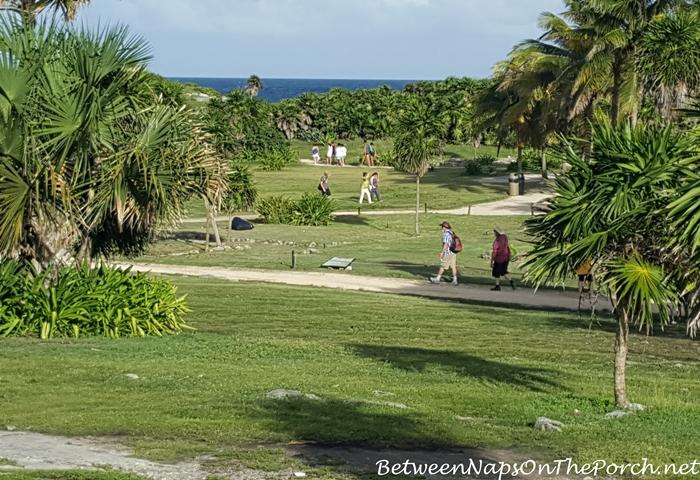 Ocean View Across Tulum Mayan Ruins