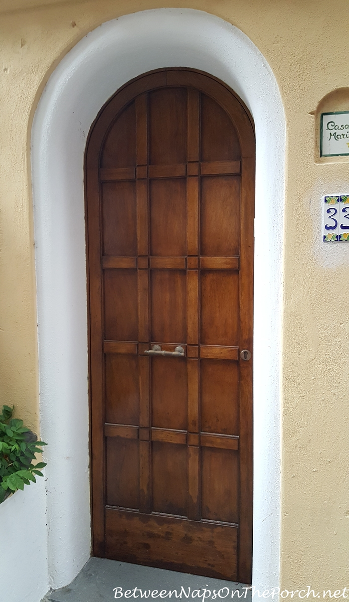 Paneled Wood Door in Positano, Italy