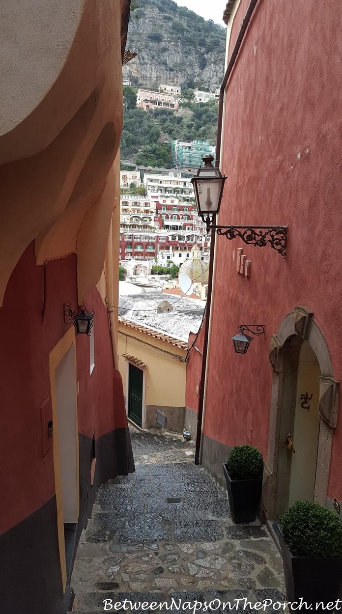 Positano Italy Winding Stairways