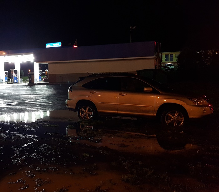 SUV stuck in Mud