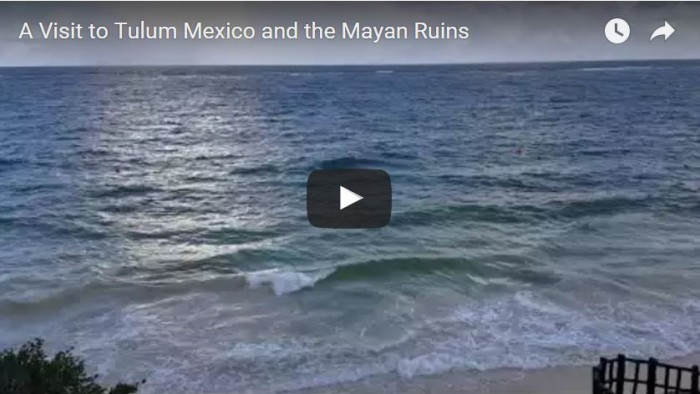 Video of waves crashing along Tulum Mexico Beach